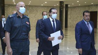 سعد الحريري خارجاً من قصر بعبدا الرئاسي