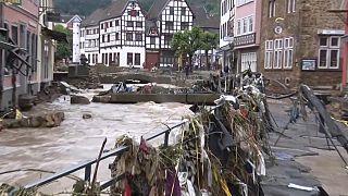 Ein Bild der Zerstörung in der Eifel