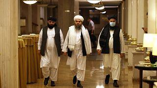 Taliban liderleri Rusya'nın başkenti Moksova'da basın toplantısı düzenledi. 9 Temmuz 2021