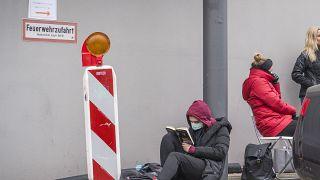 مركز اختبار كورونا  في فرانكفورت ، ألمانيا ، الثلاثاء 17 مارس 2020