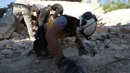Syria rockets hit villages in last rebel enclave