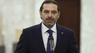 Lebanon's Prime Minister-designate Saad Hariri, speaks after his meeting with Lebanese president Michel Aoun, at the presidential palace, in Baabda, east of Beirut, Lebanon.