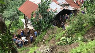 The heavy downpour struck the tea-growing province of Rize on Wednesday.