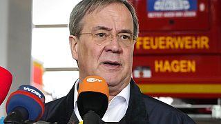 Armin Laschet nach der Hochwasser-Katastriophe in Hagen in NRW