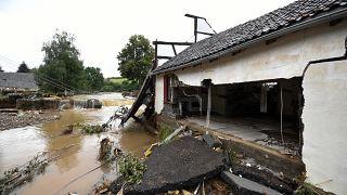 Folgen der Überschwemmungen in Iversheim
