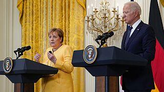 Almanya Şansölyesi Angela Merkel ile ABD Başkanı Joe Biden