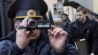 Обыски в офисе Белсата в Минске. 2017 год