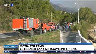 Feuerwehrleute auf Samos