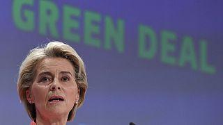 "European Commission President Ursula von der Leyen unveils proposals to govern the transition to low carbon economy dubbed ""European Green Deal"""