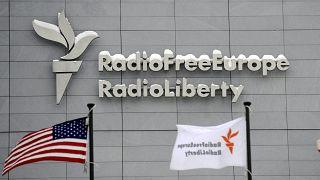 The headquarters of Radio Free Europe/Radio Liberty pictured in Prague.