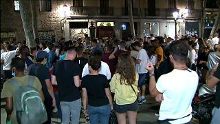Jóvenes catalanes en las calles de Barcelona