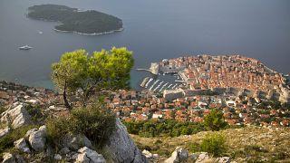 Dubrovnik óvárosa madártávlatból