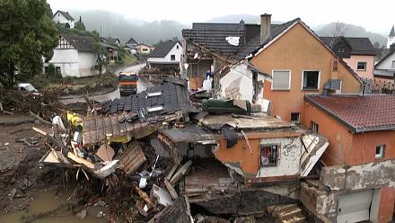 Homes and bridges destroyed after fatal floods sweep Germany