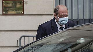 Eric Dupond-Moretti à sa sortie de la Cour de justice de la République, vendredi 16 juillet 2021