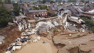 Последствия наводнения в районе Эрфштадт-Блессем