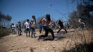 متظاهرون فلسطينيون في الضفة الغربية