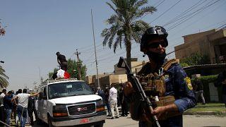 مراسم تشییع پیکر هشام هاشمی در عراق