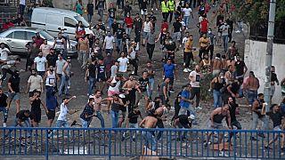 Lübnan'da ekonomik gidişatı protesto eden göstericiler
