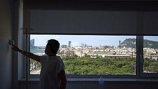Un paciente ingresado en el Hospital del Mar de Barcelona
