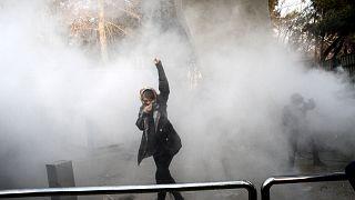 صورة أرشيفية لاحتجاجات إيران عام 2017