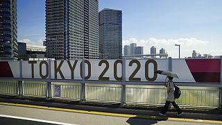 Tokió 2021. július 17-én, egy héttel az olimpia előtt