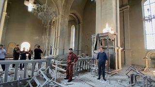 Rehabilitación de una iglesia en Shusha