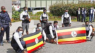 Az ugandai olimpiai küldöttség Japánban