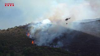 Μαίνονται οι πυρκαγιές στην Καταλονία