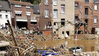 Daños provocados por las inundaciones en la localidad belga de Pepinster