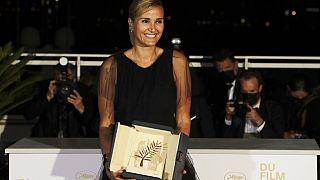 """Julia Ducourneau, réalisatrice de """"Titane"""" et Palme d'or à Cannes, le 17 juillet 2021"""