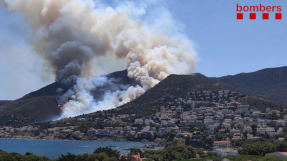 Hundreds evacuated as Catalan firefighters battle national park blaze thumbnail