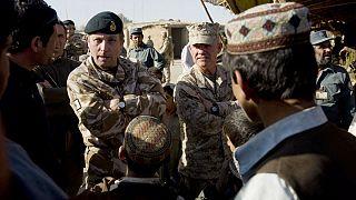 سِر نیک کارتر، ژنرال ارشد ارتش بریتانیا، در افغانستان