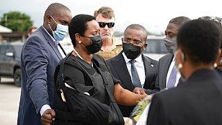a meggyilkolt haiti elnök özvegye