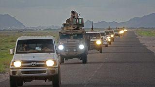 قوات تابعة للمجلس الانتقالي الجنوبي في اليمن المدعوم من الإمارات