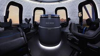 Blue Origin kapsülünün içi