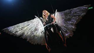 FILE: Britney Spears performs on a stage during a concert in Kiev, Ukraine, Tuesday late, Sept. 27, 2011.