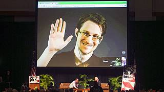 Edward Snowden egy 2015-ös archív fotón