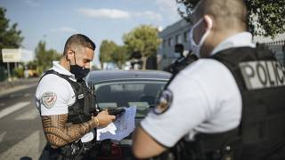 French police officer the in Paris suburb of Garges-les-Gonesse on June, 15, 2021.