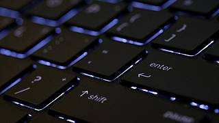 This illustration photo shows a computer keyboard