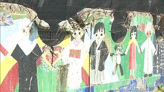 Japón homenajea a las víctimas de una escuela de Okawa fallecidas en el terremoto de 2011