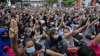 Les manifestants à Bangkok