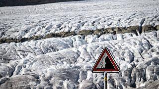 İsviçre'de Aletsch Buzulu