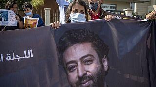 Manifestation en soutien au journaliste Omar Radi, à Casablanca le 22 septembre 2020