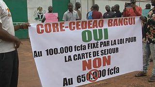 Centrafrique : polémique autour du prix des cartes de séjour