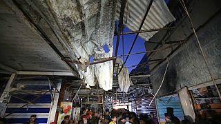 Strage al mercato in un sobborgo di Baghdad.