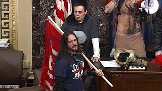 Paul Allard Hodgkins, 38 ans, dans l'enceinte du Sénat, au Capitole, à Washington, États-Unis, le 6 janvier 2021