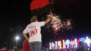 Los partidarios de Daniel Ortega conmmemoraron el aniversario de la victoria sandinista en la Plaza de la Fe de Managua