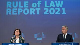 Présentation par la Commission européenne du rapport 2021 sur l'Etat de droit