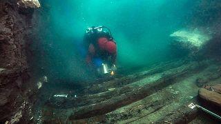 کشتی باستانی در زیر آب در مصر