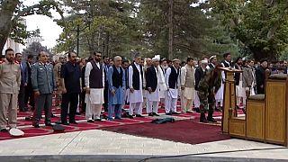 Il presidente Ashraf Ghani durante la preghiera per la Festa musulmana del sacrificio